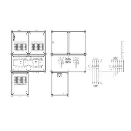 Eaton External Bypass Switch 160 kVA (wall-mount)