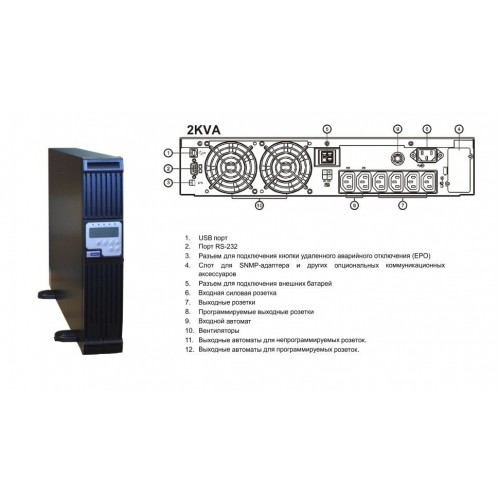 Inelt Monolith  2000RT (2U, 5 мин)
